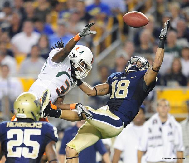 NCAA FOOTBALL: SEP 23 Miami at Pittsburgh