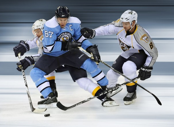Crosby Splits the D