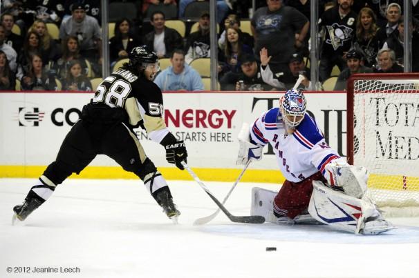 NHL: APR 05 Rangers at Penguins