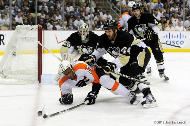 NHL: APR 20 Eastern Conference Quarterfinals – Flyers at Penguins – Game 5