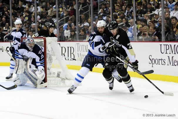 NHL: MAR 28 Jets at Penguins