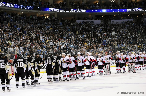 NHL: MAY 24 Eastern Conference Semifinal – Senators at Penguins – Game 5