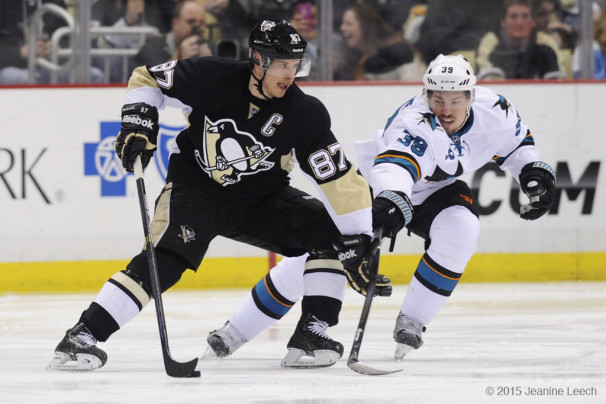 NHL: MAR 29 Sharks at Penguins